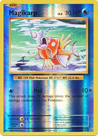 Pokemon Card XY Evolutions 33/108 Magikarp Reverse Holo Common