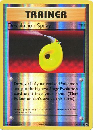 Pokemon Card XY Evolutions 76/108 Devolution Spray Item  Reverse Holo Uncommon