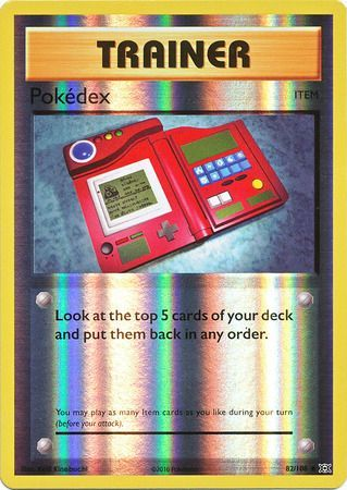 Pokemon Card XY Evolutions 82/108 Pokédex Item  Reverse Holo Uncommon