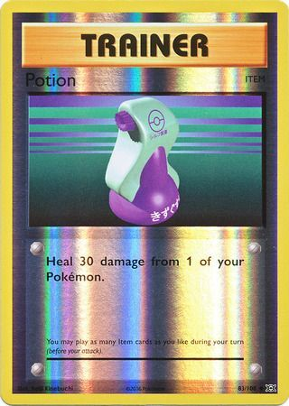 Pokemon Card XY Evolutions 83/108 Potion Item  Reverse Holo Uncommon