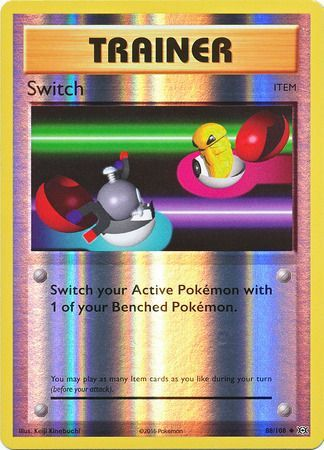 Pokemon Card XY Evolutions 88/108 Switch Item  Reverse Holo Uncommon
