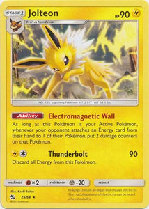 Pokemon Card Hidden Fates 23/68 Jolteon Rare