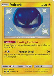 Pokemon Card Hidden Fates SV13/SV94 Voltorb Shiny Rare