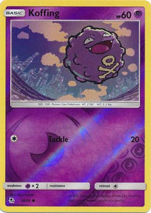 Pokemon Card Hidden Fates 28/68 Koffing Common Reverse Holo