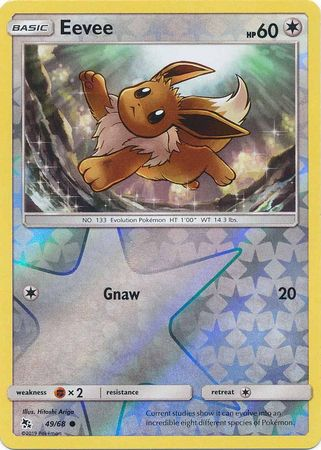 Pokemon Card Hidden Fates 49/68 Eevee Common Reverse Holo