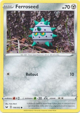 Pokemon Card Sword and Shield 130/202 Ferroseed Common