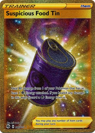 Pokemon Card Champion's Path 080/073 80/73 Suspicious Food Tin Secret Rare
