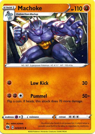 Pokemon Card Champion's Path 025/073 25/73 Machoke Uncommon