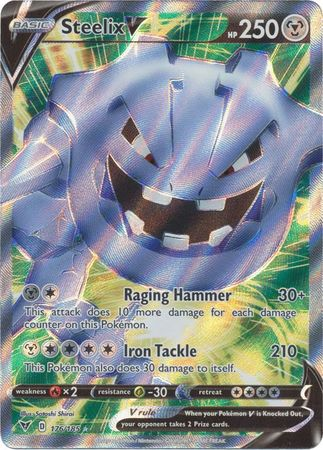 Pokemon Card Vivid Voltage 176/185 Steelix V Full Art