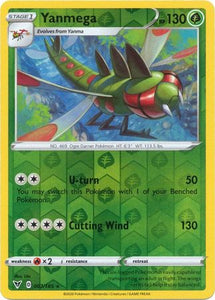 Pokemon Card Vivid Voltage 007/185 7/185 Yanmega Reverse Holo Rare