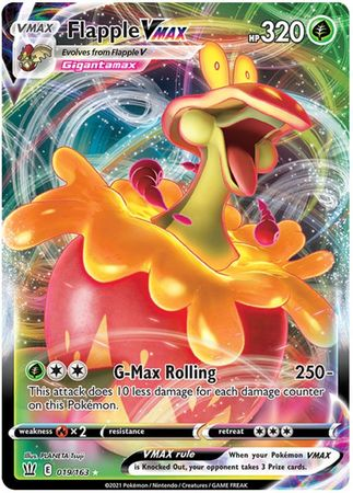 Pokemon Card Battle Styles 019/163 19/163 Flapple VMAX Ultra Rare