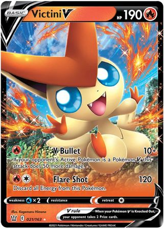 Pokemon Card Battle Styles 021/163 21/163 Victini V Ultra Rare