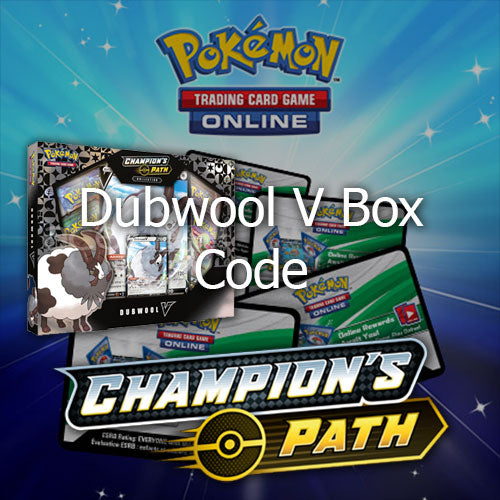 Pokemon Online (PTCGO) Code Card Champion's Path Dubwool V