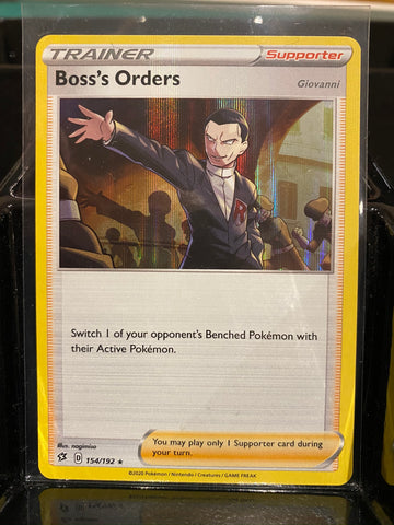 154/192 Boss's Orders Rebel Clash (RCL) Holo Rare