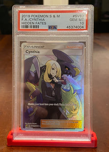 Cynthia Hidden Fates SV82/SV94 Full Art Mint Pokemon Card PSA 10