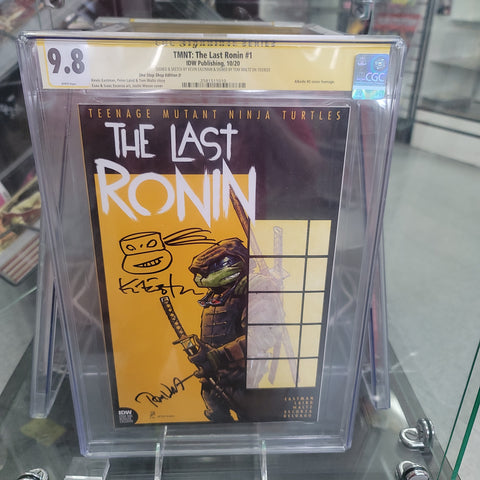 Teenage Mutant Ninja Turtles The Last Ronin #1 CGC SS Justin Mason Cover Trade signed by Waltz Signed and Sketch by Eastman
