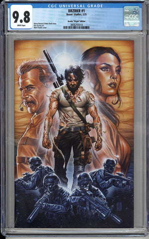BRZRKR #1 1:50 Brooks Virgin Variant CGC 9.8