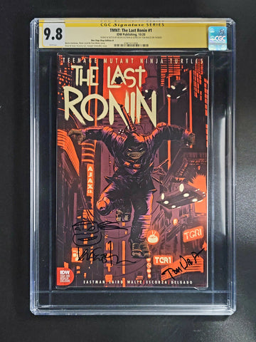Teenage Mutant Ninja Turtles The Last Ronin #1 CGC SS 9.8 Joseph Schmalke Cover signed by Waltz Signed and Sketch & Cover by Eastman