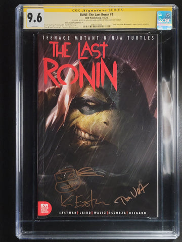 Teenage Mutant Ninja Turtles The Last Ronin #1 CGC SS 9.8 Mattina Trade Cover signed by Waltz & Signed and Sketch by Eastman Mattina Trade Cover