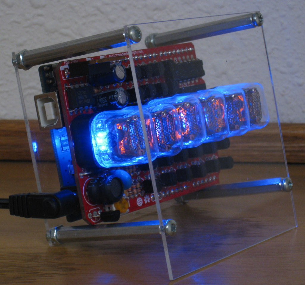 Laser Cut Enclosure for Open Source Nixie Tube Shield