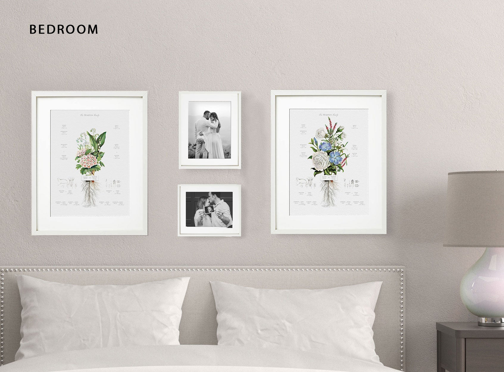 Gallery Wall Bedroom Lifestyle Image