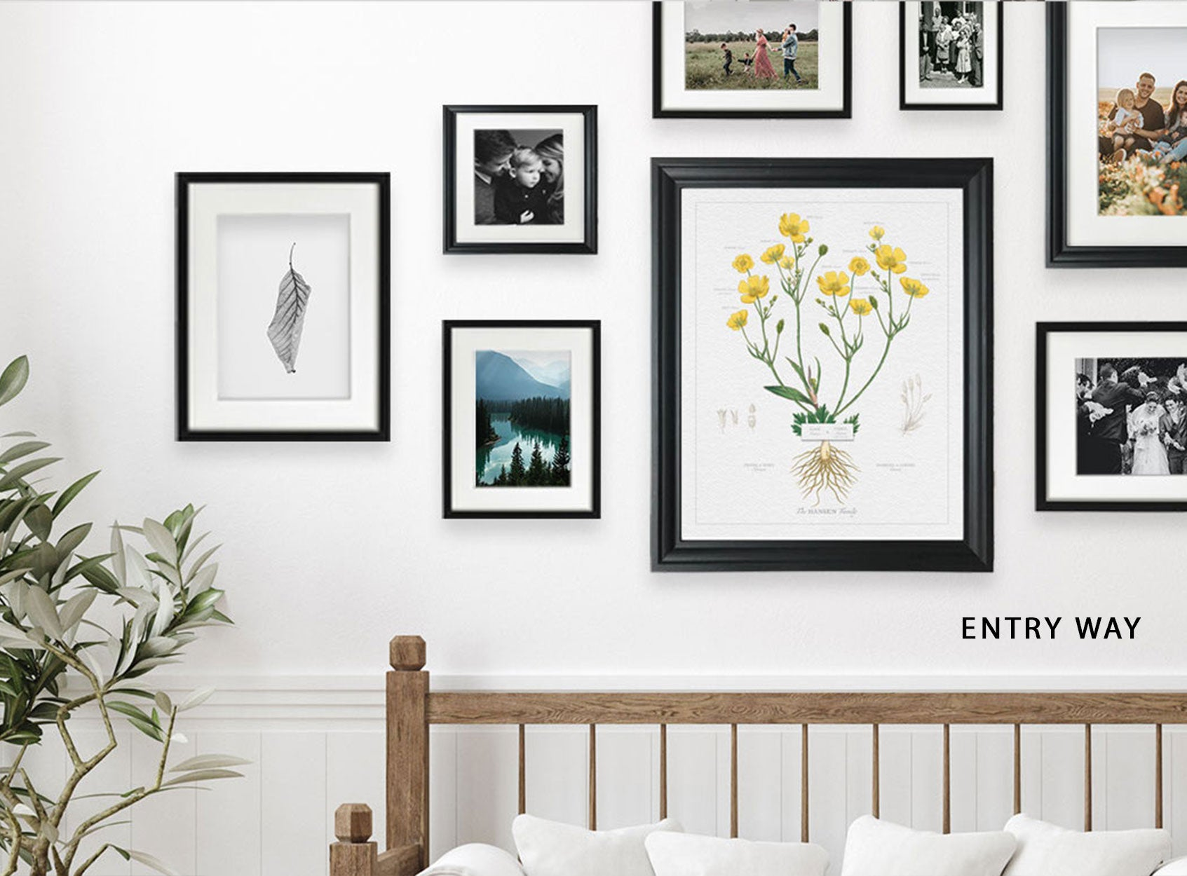 Family Gallery Wall Entry Wall Lifestyle image