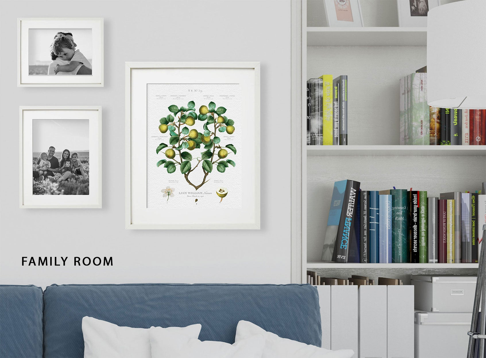 Gallery Wall Example Family Room