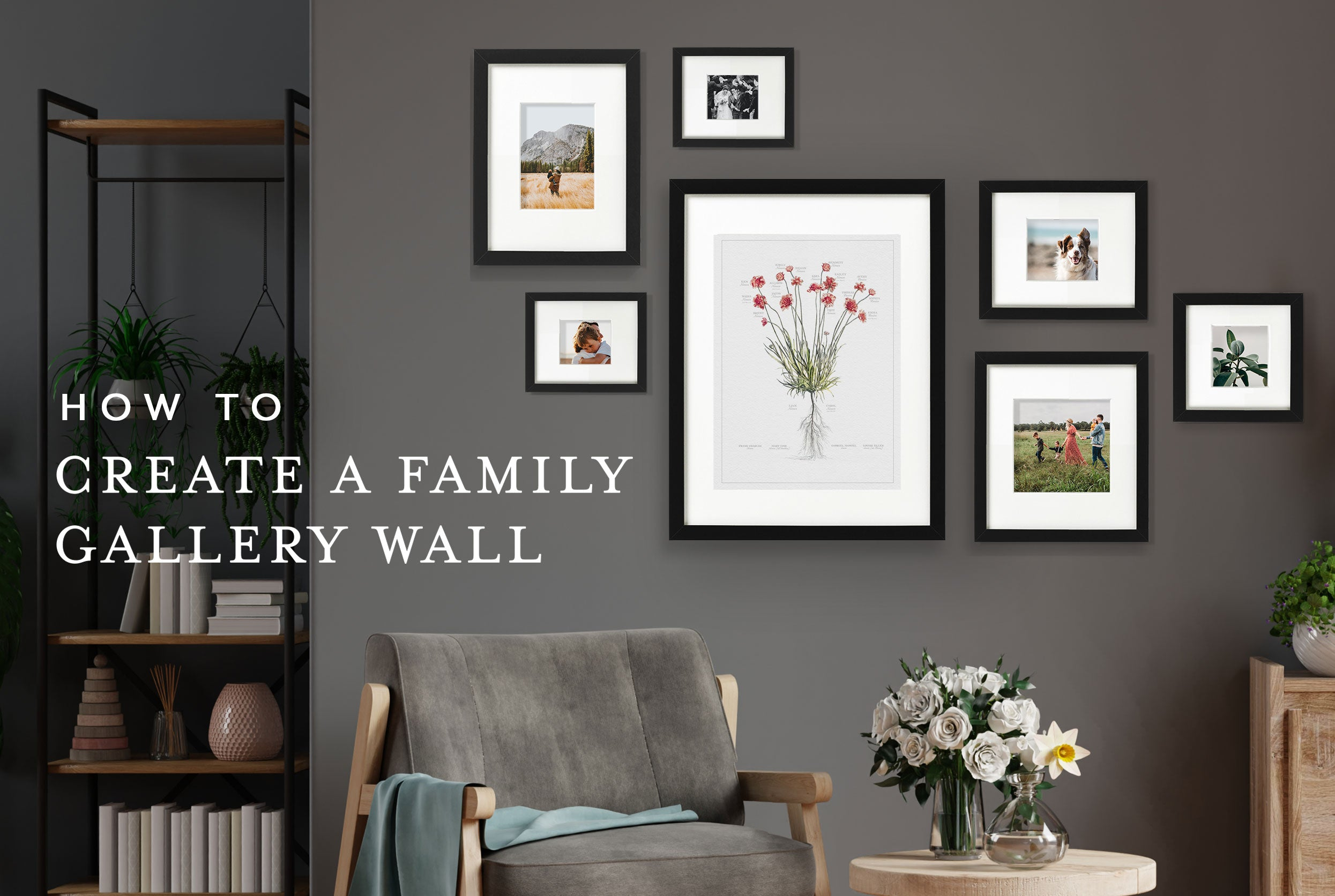How to create a Family Gallery Wall -Living Room