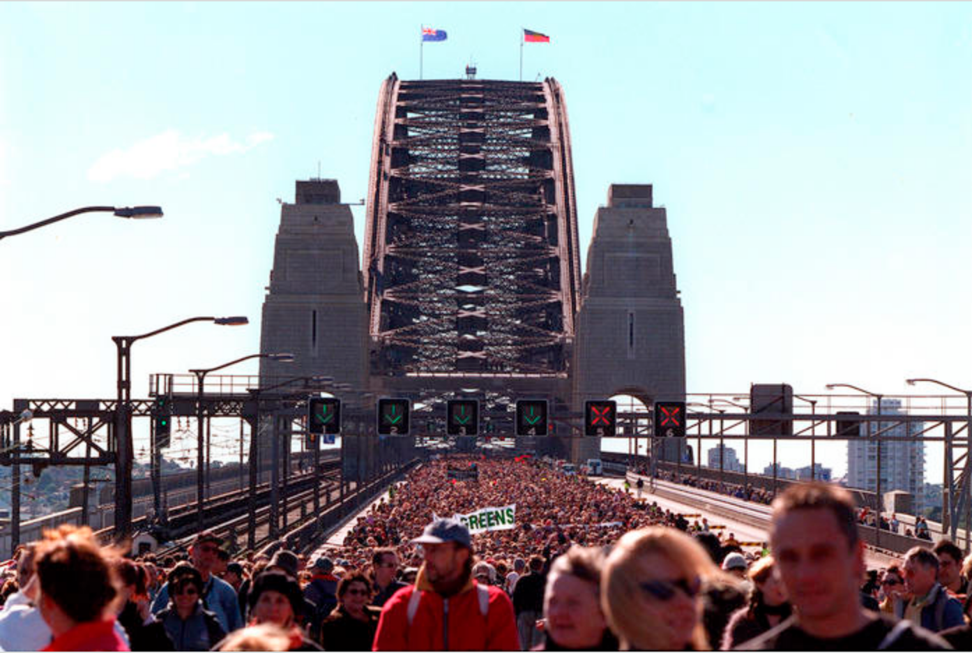 """It's a People's Movement"" the late Dr Evelyn Scott, Sydney Harbour Bridge Walk"