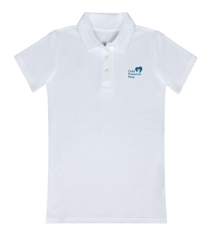 Child Protection Party Polo Shirt - White