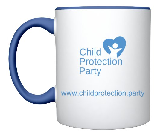 Child Protection Party Hashtag Mug