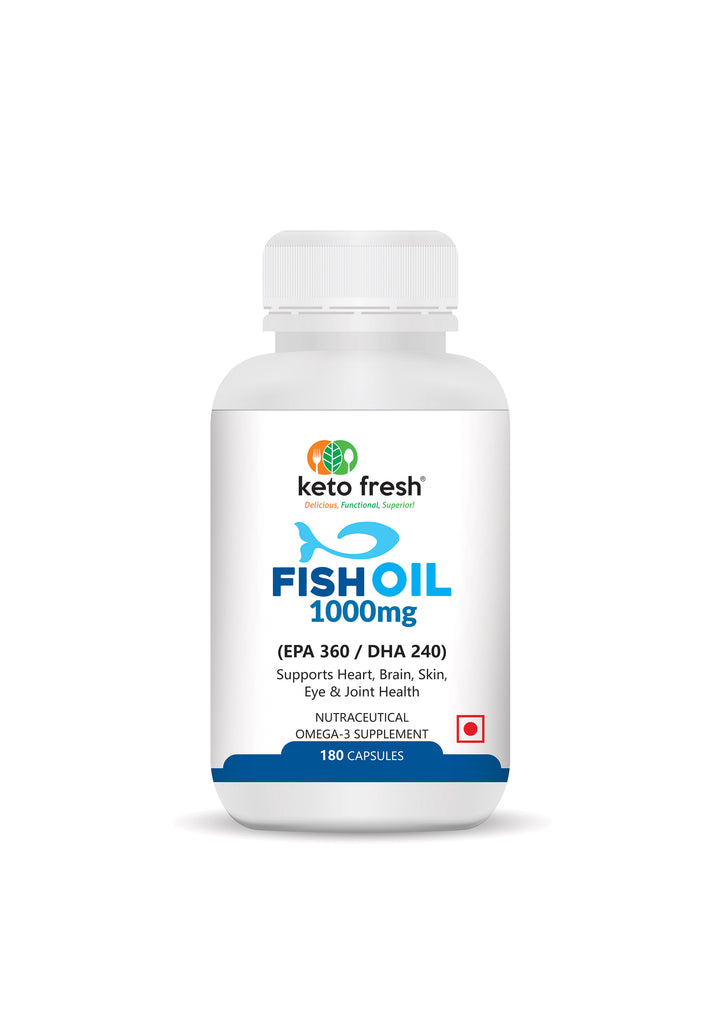 Keto Fresh Fish Oil Capsules: Enteric coated
