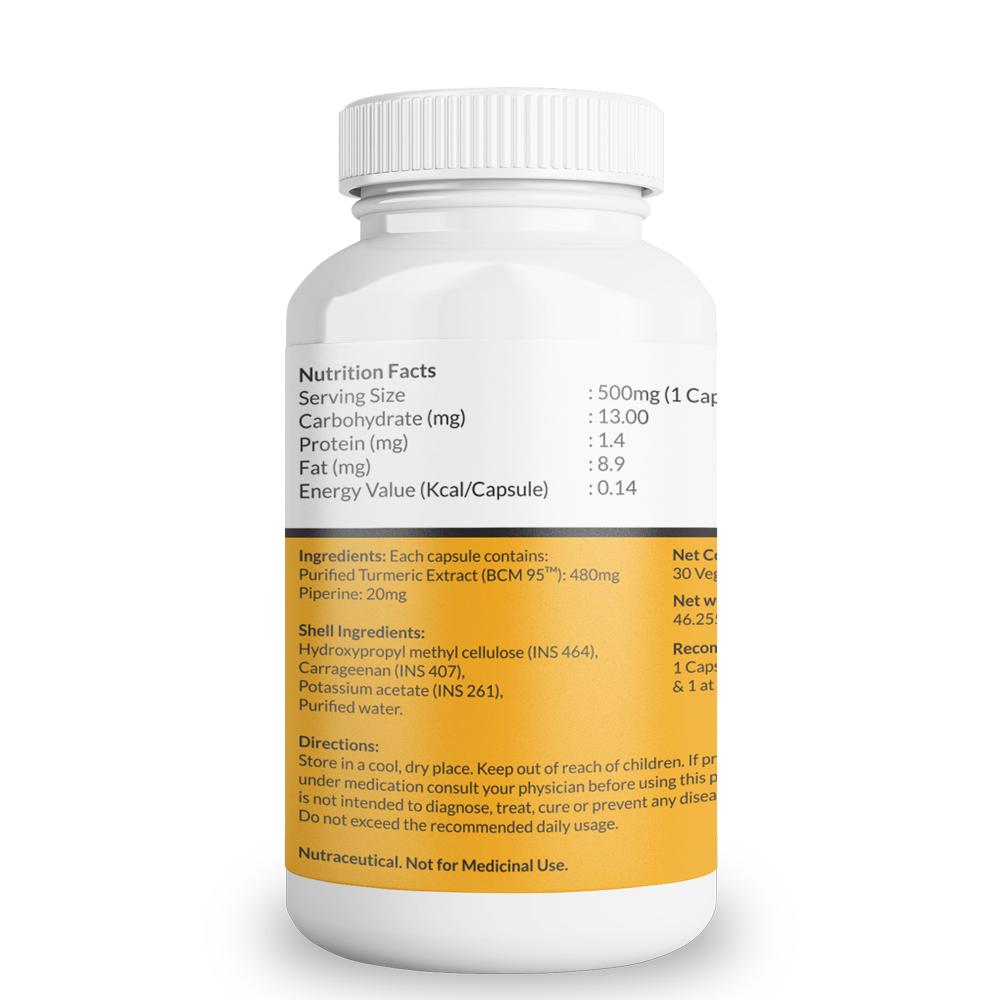 Turmeric Cucrumin BCM-95 With Piperine