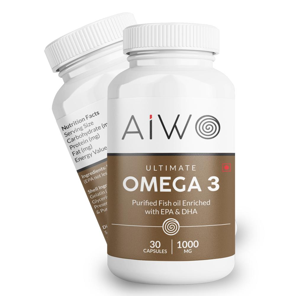 Ultimate Omega-3 Fish Oil Capsules: Double Strength With EPA And DHA
