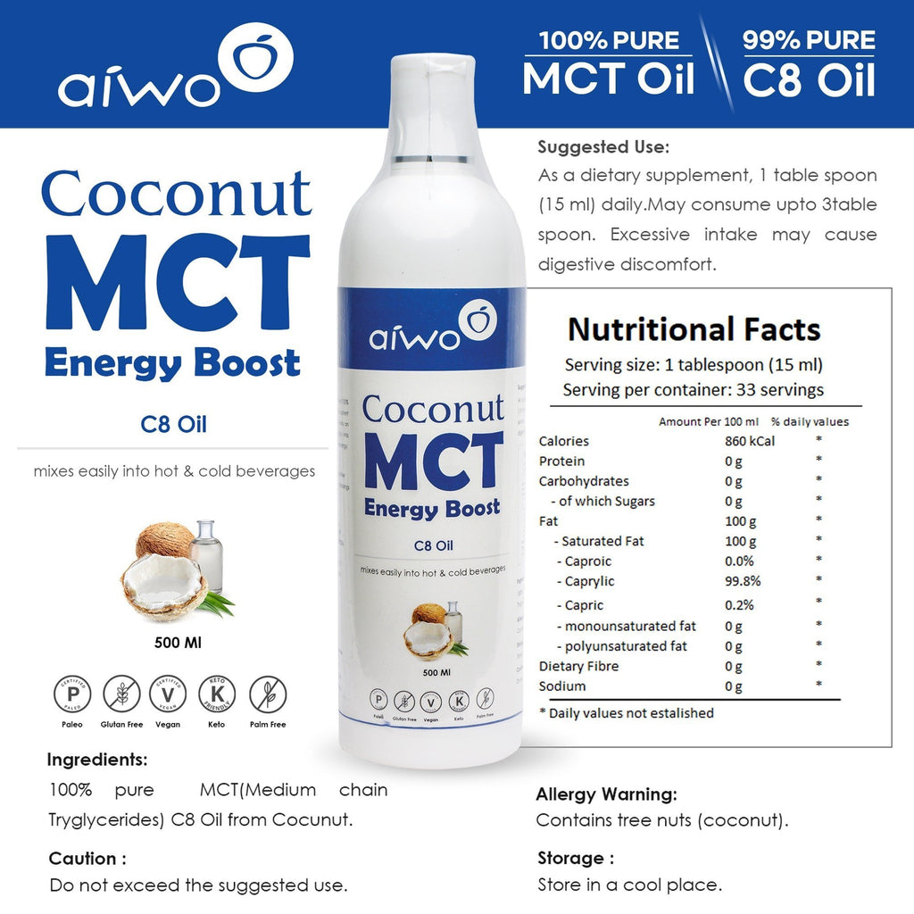100% Pure C8 MCT Keto Oil