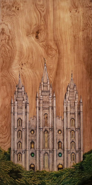 Salt Lake City Temple Giclee Print