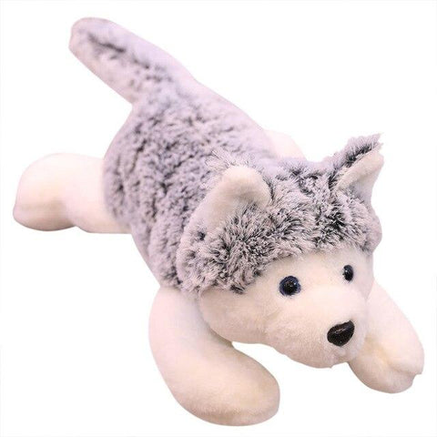 Peluche Loup<br> Géant Gris - Loup-Faction