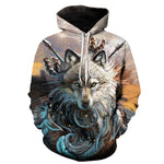 Pull Loup<br> Chef Indien - Loup-Faction