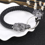 Bracelet Loup<br> Serpent (Cuir) - Loup-Faction
