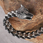 Bracelet Loup<br> Chef Titanium - Loup-Faction