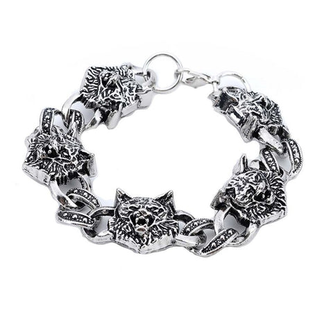 Bracelet Loup <br> Symbole Enchainée - Loup-Faction