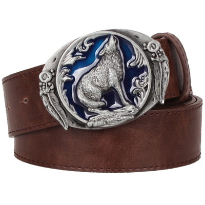 Ceinture Loup<br> Marron - Loup-Faction