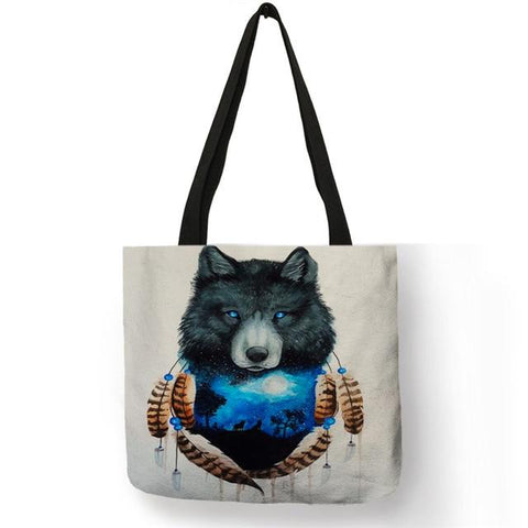 Sac Loup<br> Cabas Indien - Loup-Faction