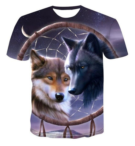 T-Shirt Loup<br> Attrape-Rêves - Loup-Faction