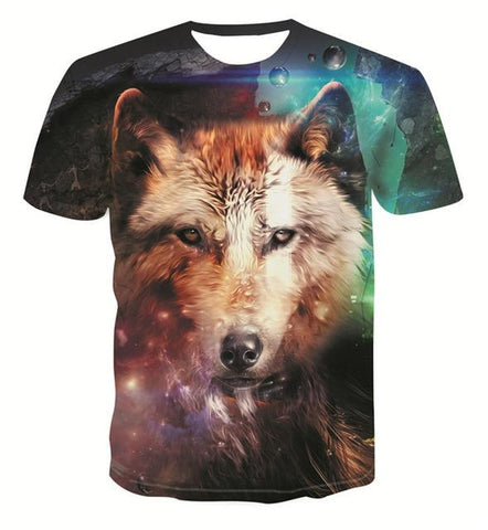 T-Shirt Loup<br> Cosmique - Loup-Faction