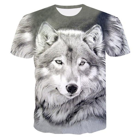 T-Shirt Loup<br> Blanc - Loup-Faction