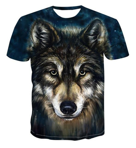 T-Shirt Loup<br>Brun - Loup-Faction
