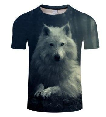 T-Shirt Loup<br> Blanc Mâle - Loup-Faction