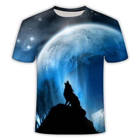 T-Shirt Loup<br> Lune Hurlante - Loup-Faction