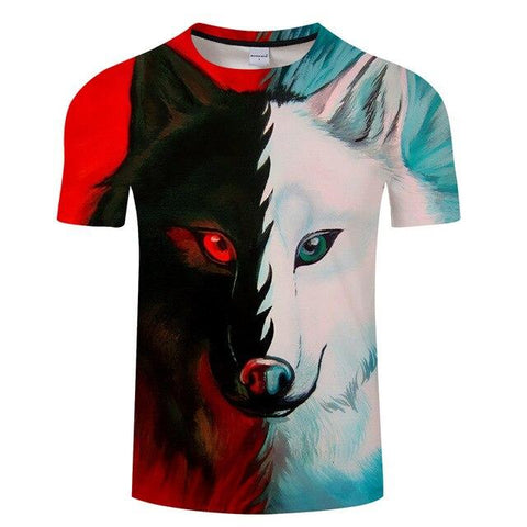 T-Shirt Loup<br> Solitaire - Loup-Faction